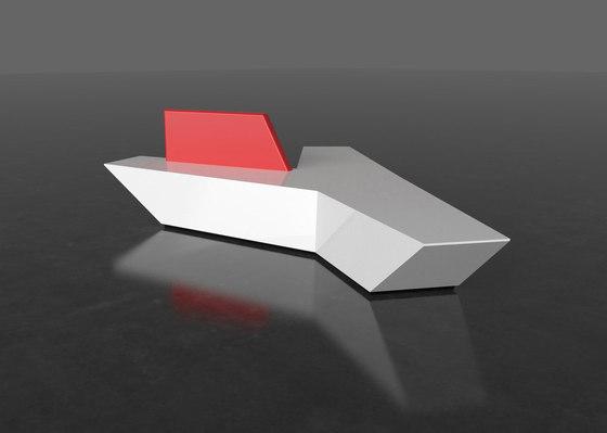 Pause P 111X + backrest von AMOS DESIGN | Sitzbänke