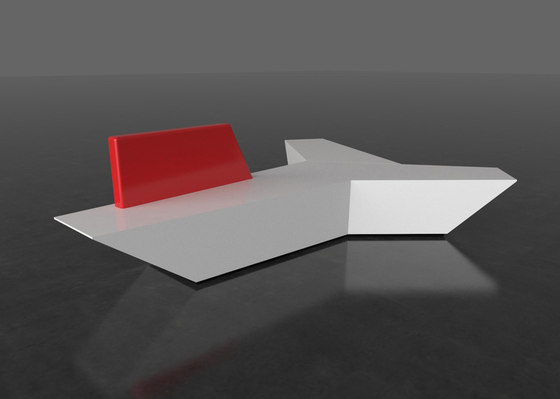 Pause P 112X + backrest by AMOS DESIGN | Waiting area benches