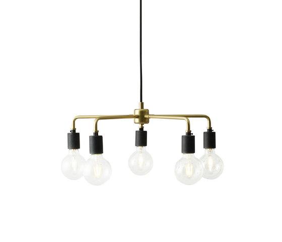 Tribeca Series   Leonard Chandelier Brass by MENU   Suspended lights