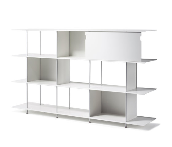 Zeta Aluminium by OXIT design | Office shelving systems