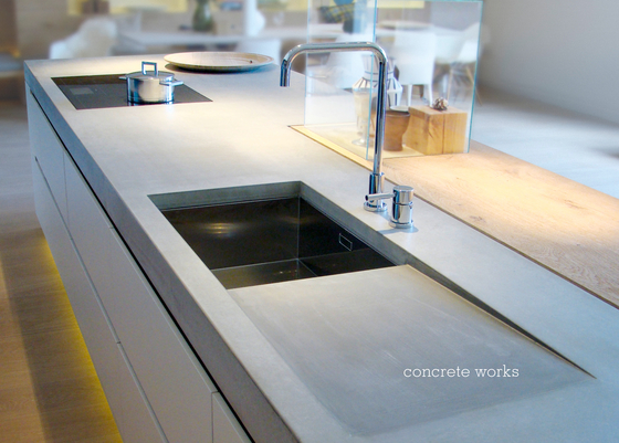 Concrete Kitchen | Design Example de Dade Design AG concrete works Beton | Encimeras