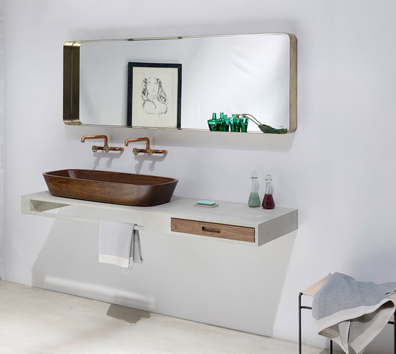 Concrete Washbasins | Design Example by Dade Design AG concrete works Beton | Wash basins