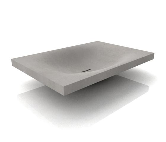wave washbasin wash basins from dade design ag concrete works beton architonic. Black Bedroom Furniture Sets. Home Design Ideas