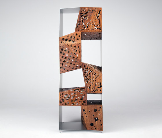 Riddled Totem by CASAMANIA-HORM.IT | Shelving