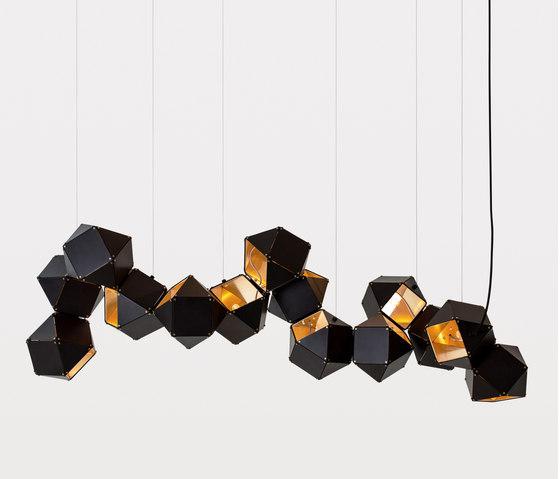 WELLES Long Chandelier by Gabriel Scott   Suspended lights