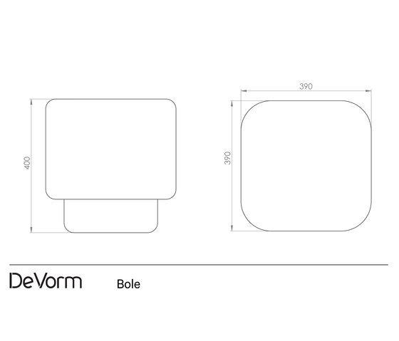 Bole di De Vorm | Tavolini alti