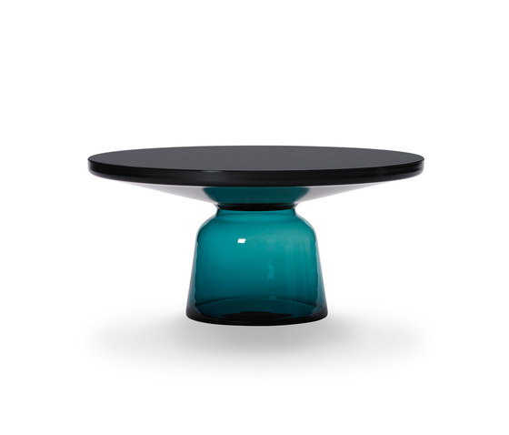 Bell Coffee Table steel-glass-blue by ClassiCon | Coffee tables