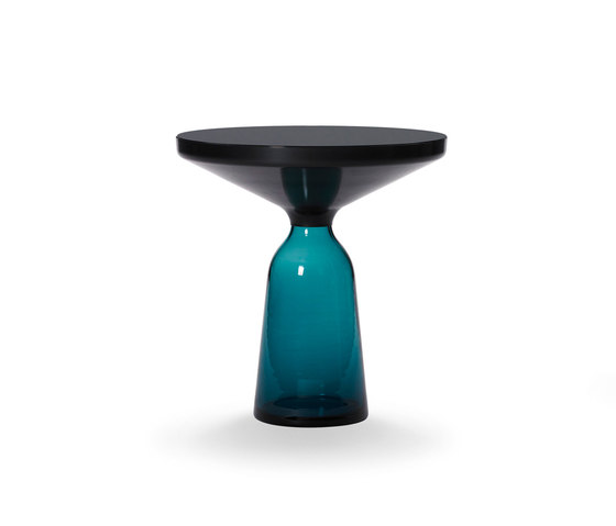 Bell Side Table steel-glass-blue de ClassiCon | Tables d'appoint