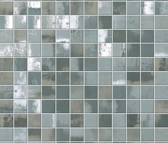 Evoque Acciaio Silver Mosaico Wall von Fap Ceramiche | Keramik Mosaike