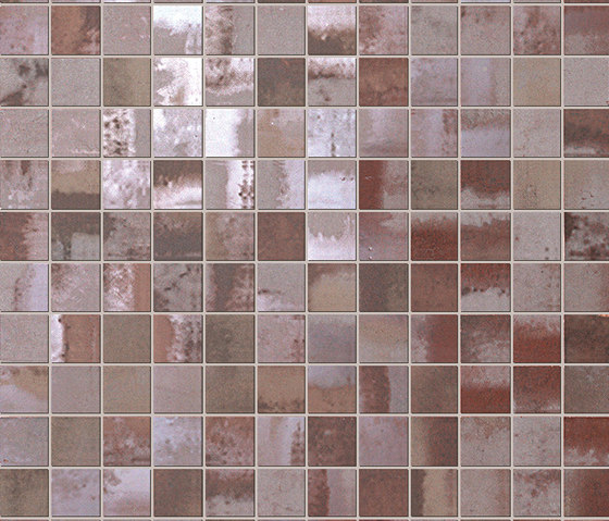 Evoque Acciaio Copper Mosaico Wall de Fap Ceramiche | Mosaïques céramique