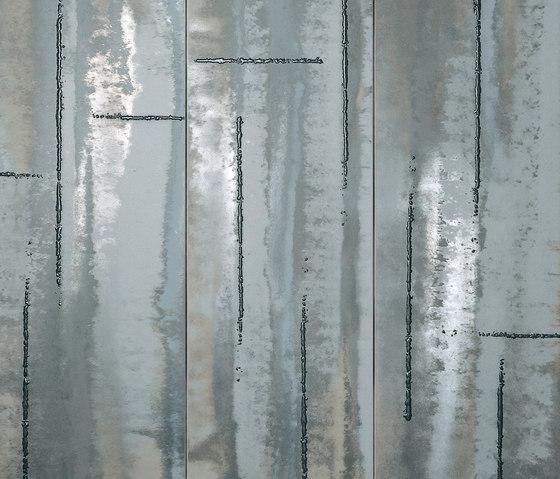 Evoque Acciaio Silver Inserto Mix Wall de Fap Ceramiche   Carrelage céramique