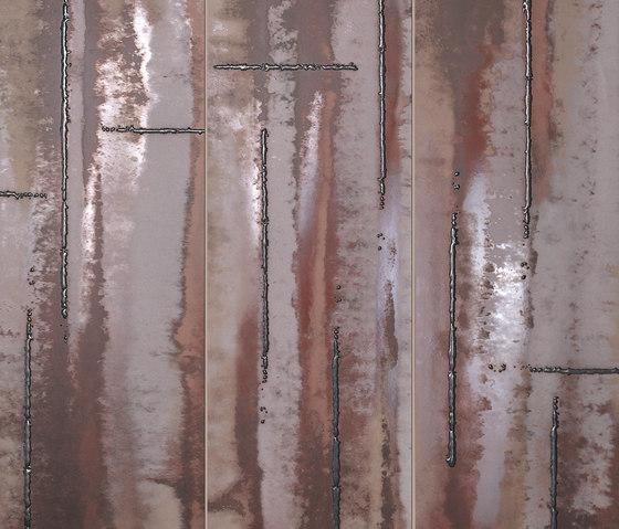 Evoque Acciaio Copper Inserto Mix Wall de Fap Ceramiche   Baldosas de cerámica
