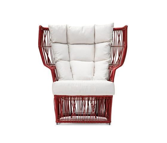Calyx Easy Armchair high back von Kenneth Cobonpue | Gartensessel