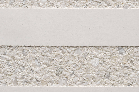 GCGeo Stripes Horizontal white cement - white aggregate by Graphic Concrete | Exposed concrete