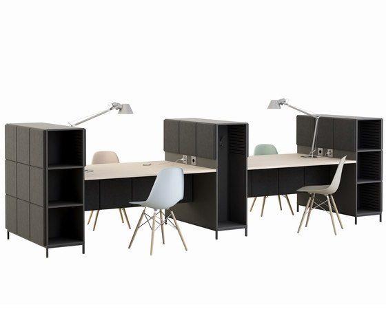 Sabine working stations by Glimakra of Sweden AB   Shelving