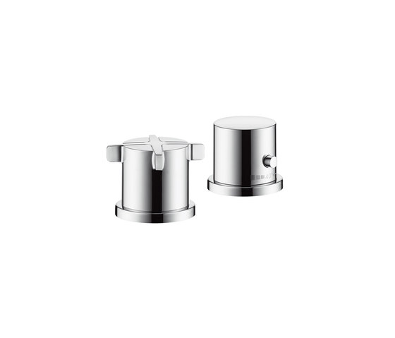 AXOR Citterio E 2-hole rim mounted thermostatic bath mixer by AXOR | Bath taps