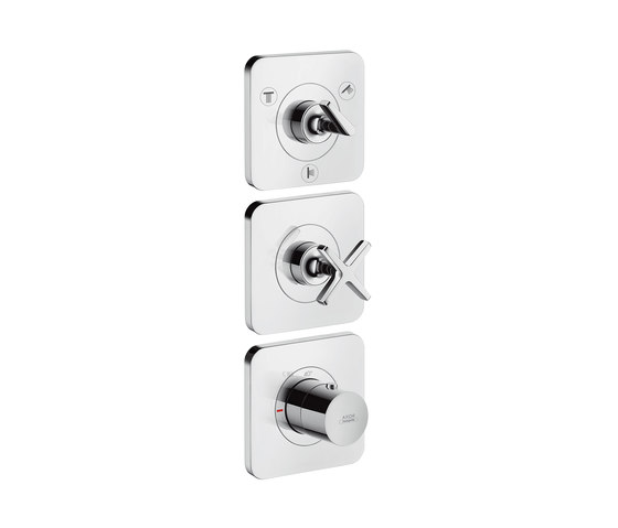 AXOR Citterio E Thermostatic module 38 x12 for concealed installation for 3 outlets with escutcheons by AXOR   Shower controls