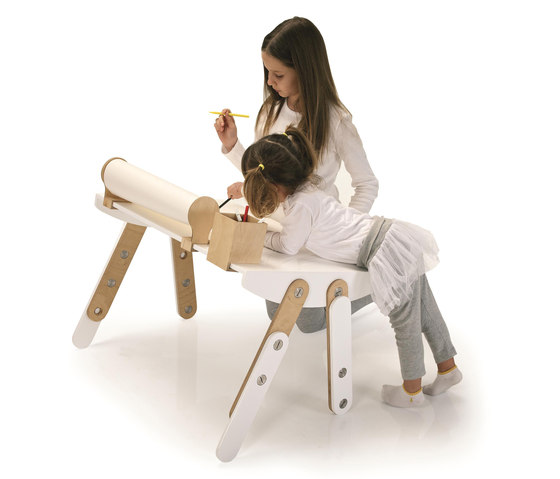 Milky Desk & Accessories by GAEAforms | Kids tables