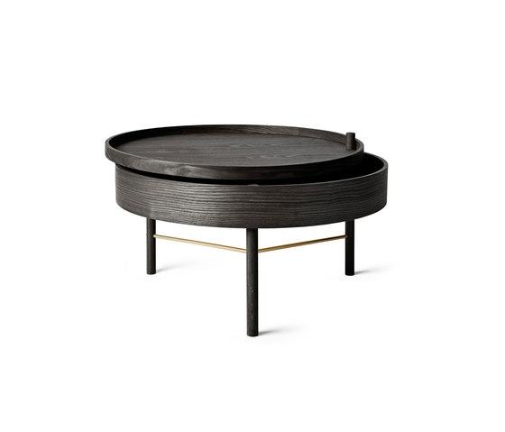 Turning Table | Black Ash/Brass de MENU | Tables basses