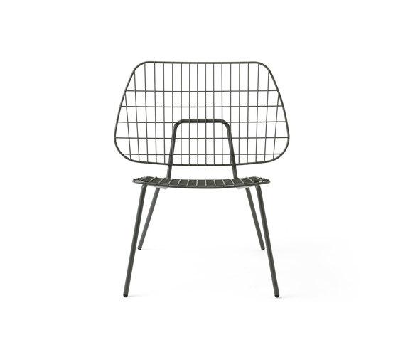 WM String Lounge Chair | Dusty Green de MENU | Sillones de jardín