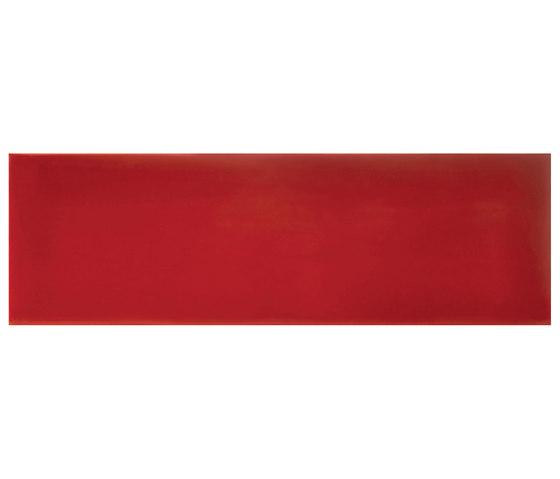 Cotton Waved Glossy Rosso Maranello de Valmori Ceramica Design | Carrelage céramique