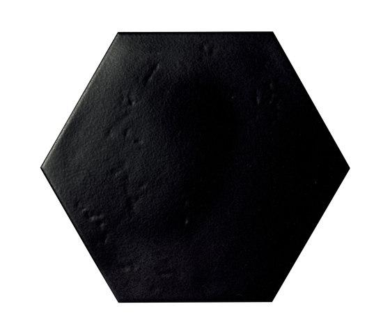 Le Crete Hexagon Terra Nera by Valmori Ceramica Design | Ceramic tiles