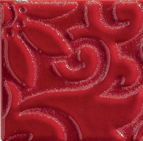 Ornamenti Flow Rosso Maranello von Valmori Ceramica Design | Keramik Fliesen