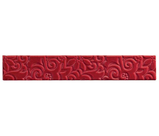 Ornamenti Flow Rosso Maranello by Valmori Ceramica Design   Ceramic tiles