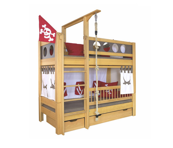 Pirate Bunk bed with drawers DBA-202.8 di De Breuyn | Letti infanzia
