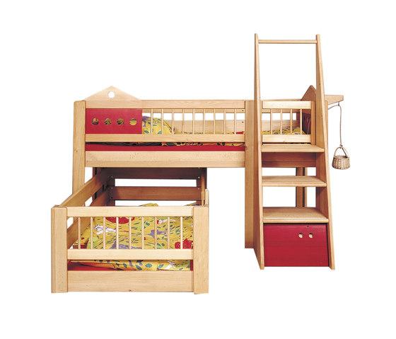 Villa small children's bunk bed DBA-201.2 di De Breuyn   Letti infanzia