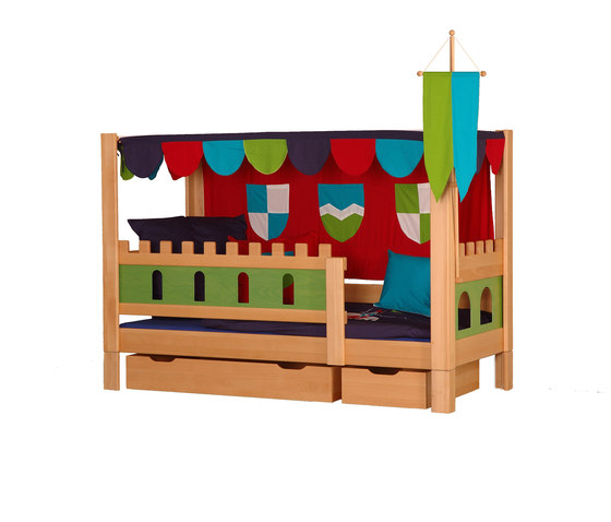Castle Poster bed with drawers DBA-208.4 di De Breuyn | Kids beds
