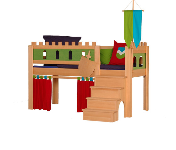 Castle medium-high game bed DBA-208.1 de De Breuyn | Camas de niños / Literas