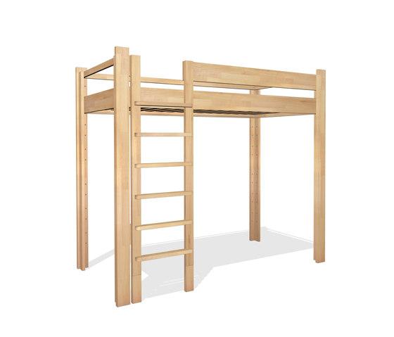 Youth Loft Bed DBB-100D de De Breuyn | Camas de niños / Literas