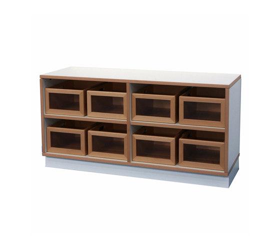 Shelf Unit DBF-602-2-10 di De Breuyn | Contenitori infanzia