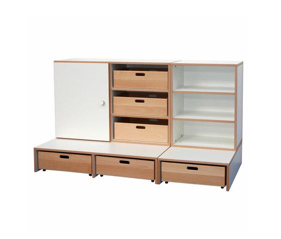 Shelf Combination DBF-652-1-10 di De Breuyn | Contenitori infanzia