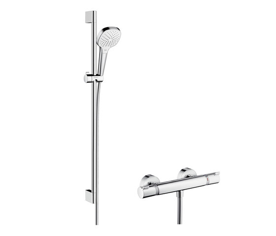hansgrohe croma select e vario combi set m shower taps mixers from hansgrohe architonic. Black Bedroom Furniture Sets. Home Design Ideas