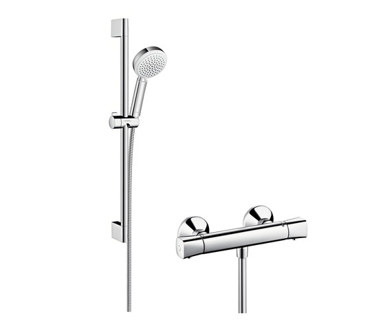 hansgrohe crometta by hansgrohe 160 1jet showerpipe with. Black Bedroom Furniture Sets. Home Design Ideas