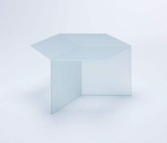 Isom Square - frosted white de NEO/CRAFT | Mesas de centro