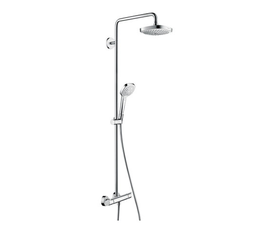 hansgrohe Croma Select E 180 2jet Showerpipe EcoSmart 9 l/min by Hansgrohe | Shower controls