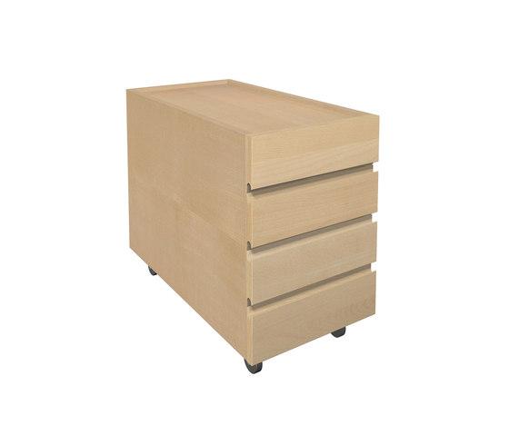 Ziggy container a tiroirs pour bureau  DBD-856-00 de De Breuyn   Meubles rangement enfant