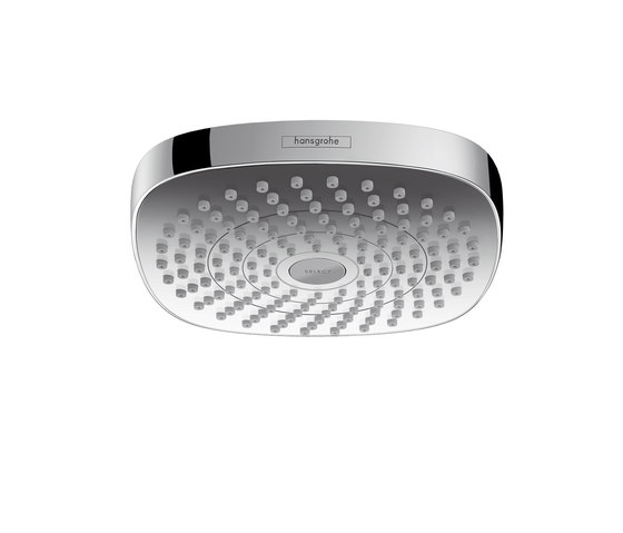 Hansgrohe Croma Select E 180 2jet EcoSmart 9 l/min overhead shower by Hansgrohe | Shower taps / mixers