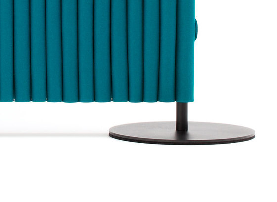 Wave room divider disc base by HEY-SIGN | Space dividers