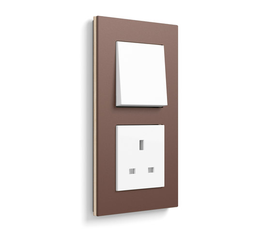 Esprit linoleum-plywood | Switch range by Gira | Push-button switches