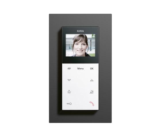 Esprit linoléum-multiplex | Station d'appartement vidéo pour montage apparentation de Gira | Interphone (extérieur)
