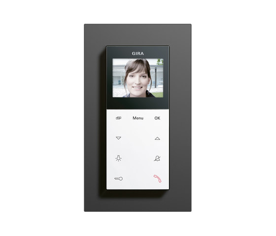 Esprit linoleum-plywood | Surface-mounted home station video di Gira | Citofoni interno