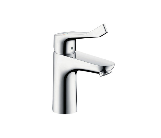 hansgrohe Focus Single lever basin mixer 100 CoolStart without waste set, with extra long handle by Hansgrohe | Wash basin taps