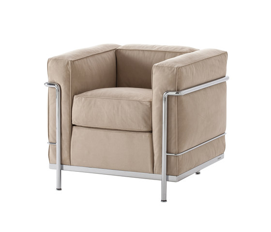 LC2 armchair eco-friendly by Cassina | Armchairs