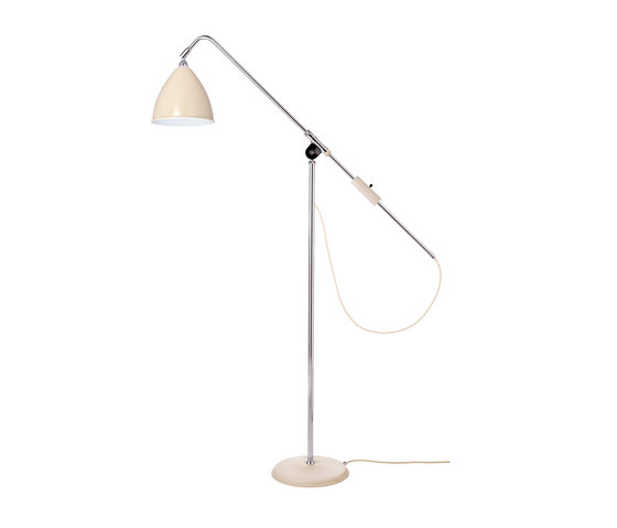 Bestlite BL4 Floor lamp | Off-White/Chrome by GUBI | Free-standing lights