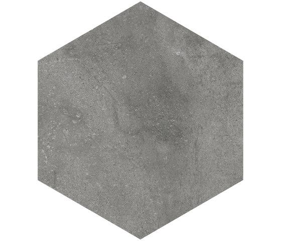 Rift | Hexagono Rift Grafito by VIVES Cerámica | Ceramic tiles