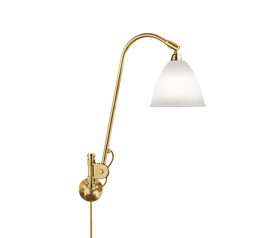 Bestlite BL6 Wall lamp | Bone China/Brass by GUBI | Wall lights